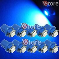 10 LED Per Cruscotto Quadro Strumenti T5 B8.5D SMD BLU Lampade Luci Lampadine W5