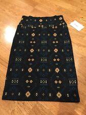 NWT LuLaRoe Cassie Pencil Skirt Size XS Black Aztec Tribal Pattern