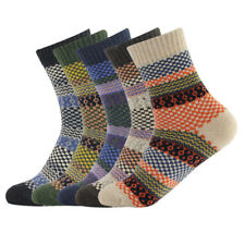 Women 5 Pair Warm Winter Thick wool Mixture Cashmere Casual Knit Socks US 7-11