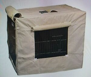 Crate Cover Indoor/Outdoor for Large Pet (Nylon, Tan)