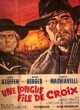 WESTERN: : AFFICHE DE CINEMA -  UNE LONGUE FILE DE CROIX...SUPERBE