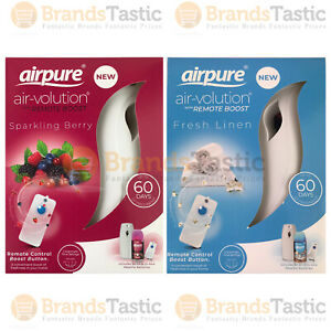 1 X AIRPURE AIR-VOLUTION AUTOMATIC AIR FRESHENER WITH REMOTE & REFILL 250ML