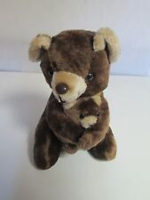Vintage Conesco-Chase Plush Momma and Baby  Teddy Bear Stuffed Animals 10""