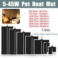 Adjustable Reptile Vivarium Heat Mats Heating 5 / 7 / 14 / 20 / 28 / 35 and 45w