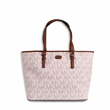 15ec5cdb14bf2 Michael Kors Jet Set Travel MK Signature Large Carryall Tote Handbag  Vanilla Nwt