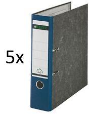 5 Stück Leitz 1080 Qualitäts Ordner breit mit 180º-Präzisionsmechanik blau
