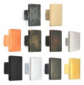Solid Square Black Antique Cabinet Drawer Cupboard Kitchen Door Knobs Handles