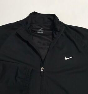 Nike Men's Dri-Fit Full-Zip Athletic Training Tennis Jacket Black M Medium