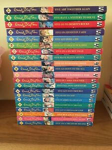 Famous Five Collection 21 Books Enid Blyton Hodder Children's Books 1991 Vintage