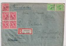 Bizone/AM-Post, Mi. 8z (5er), 3(2), R-Kreiensen - Dresden, 24.4.46