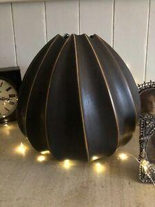 Vase Brown ceramic H20.5cm