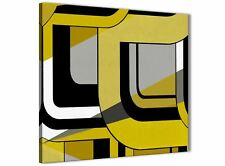 YELLOW GREY Pittura Cucina Accessori in Tela-ASTRATTO 1s409s - 49 cm
