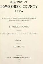 1911 POWESHIEK County Iowa IA, History and Genealogy Ancestry Family DVD B38