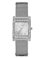 New GUESS woman silver-Tone Stainless Steel Mesh Bracelet Watch 39mm U0130L1