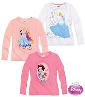 Top Shirt langarm Oberteil Pullover Mädchen Princess grau pink blau 98-116 #58