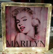 Customized Marilyn Monroe Glass Block Light~ Home Decor~Gift~Lamp