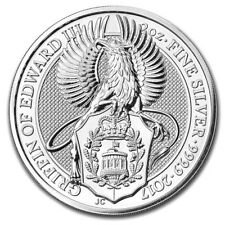 Griffin Queens Beasts 2 oz .999 Silver Bullion Coin