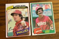 Larry Bowa Topps 1980 #630  and 1981 #120 - Phillies