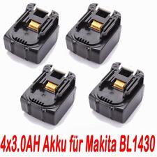 4x 14.4V 3.0AH Akku für Makita BL1430 BL1415 194066-1 194065-3 BDF343 NEU