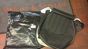GENUINE ROVER HCA000860WCE BLACK LEATHER SEAT CUSHION COVER ROVER 75 PASS SIDE