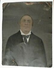 c1870 LARGE Tin Type Photo Well Dressed Man Hand Colored