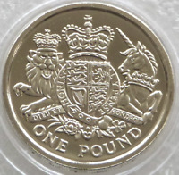 Royal Mint Royal Arms UNCIRCULATED £1 One Pound Coin 2015 RARE LAST ROUND POUND