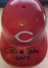 "Pete Rose Beckett Certified Cincinnati Reds Signed Autographed Helmet w/ ""4256"""