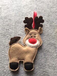 Handmade  Christmas Hanging Decoration  Gingerbread Reindeer