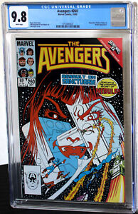 Avengers #260 Nebula/Beyonder/Firelord Apps CGC NM/MT 9.8 White Pages 3752645022