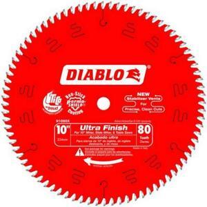 "FREUD DIABLO D1080X  254mm (10"") 80T ULTRA FINISH CIRCULAR SAW BLADE TOP QUALITY"