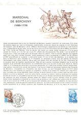 1er jour Timbre sur document philatélique - Maréchal de BERCHENY