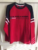 NWT U.S. POLO ASSN. Established 1890 Red Long Sleeve Men's Shirt Size Medium