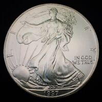 1997 American Silver Eagle Coin BU 1 oz $1 Dollar U.S. Mint Uncirculated Package