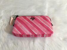 Victoria's Secret Pink Striped Pouch / Purse / Makeup Bag - UK SELLER