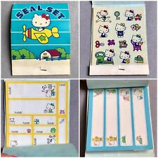 VTG 1980s HELLO KITTY Seal Set 1976 SANRIO 3 Sheets Stickers STATIONERY Tags