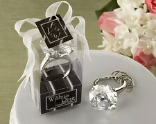 With This Ring Engagement Ring Keychain Wedding Favor Key Chain Bridal Shower