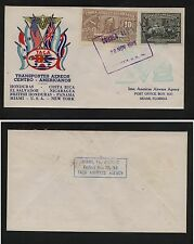 Nicargua nice Taca first flight cover cachet cover 1943 Gt0904