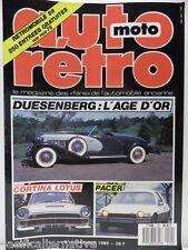 Revue AUTO RETRO moto magazine n° 102 - février 1989 collection duesenberg pacer