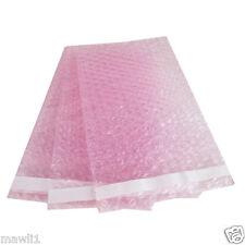 100 4X5.5 Anti-Static Pink BUBBLE OUT POUCHES BUBBBLE WRAP BAGS