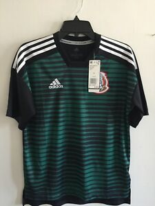 Adidas Mexico Parley Prematch Black Green Jersey 2018 Size YL Boy's Only