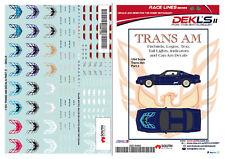 1/64 Scale Decals - Trans AM Firebird - DEKL's II