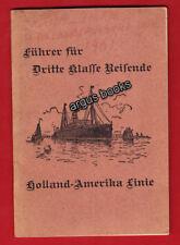 1901 HOLLAND AMERICA LINE New York PRINTED DUTCH Sacramento CALIFORNIA Booklet