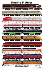 "Double F-Units 11""x17"" Railroad Poster by Andy Fletcher signed"