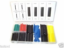 120 Pc Heat Shrink Wire Wrap Assortment Tubing Electrical Color Code Cable Set