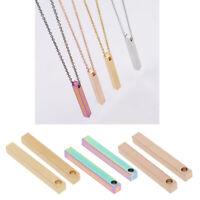 2Pcs Rectangle Charms Anhänger Stamping Blank Tags für DIY Halskette Schmuck