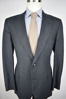 Johnny Carson Dark Gray Pinstripe Flannel Wool Two Button 2 Piece Suit Size: 39R