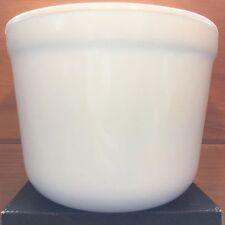 """Vtg Heavy WHITE Milk GLASS Vase Flower POT 6-1/2""""W 5-1/4""""H Large Unbranded Bowl"""