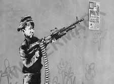 Banksy Boy Soldier Graffiti Street Art Large Poster Art Print Lf3646