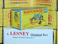Matchbox Lesney 38c Honda Motorcycle & Trailer Type F2 EMPTY ORIGINAL BOX ONLY