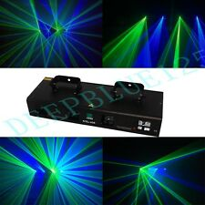 NEW ITEM 4 Lens 300mW Green+Blue  DMX Laser Party DJ Disco Stage Laser Light